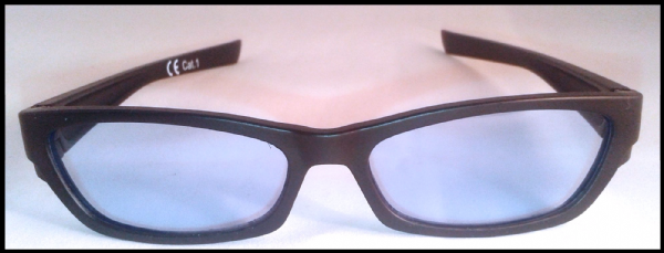 Light blue x 2 tinted glasses suitable for age 10 upwards